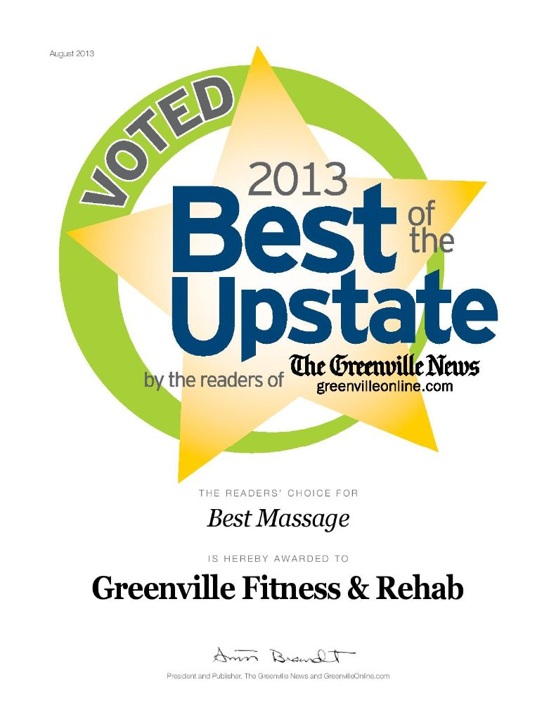 Voted Best Massage in the Upstate