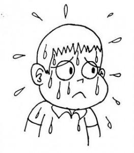 sweat cartoon
